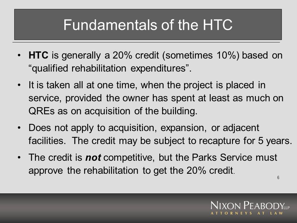 Fundamentals of the HTC