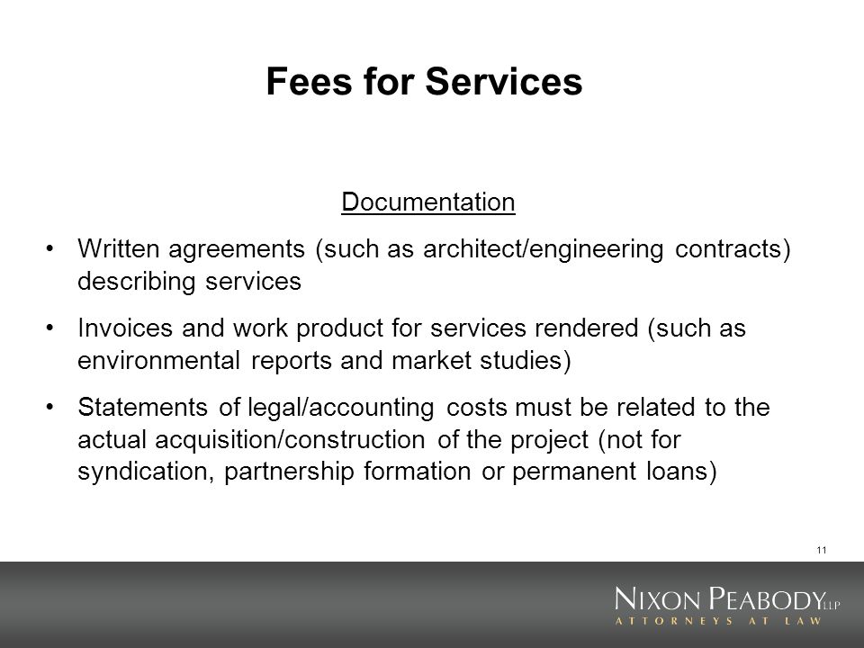 Fees for Services Documentation