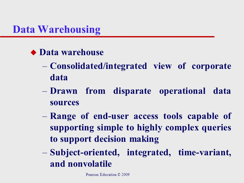 Data Warehousing Data warehouse