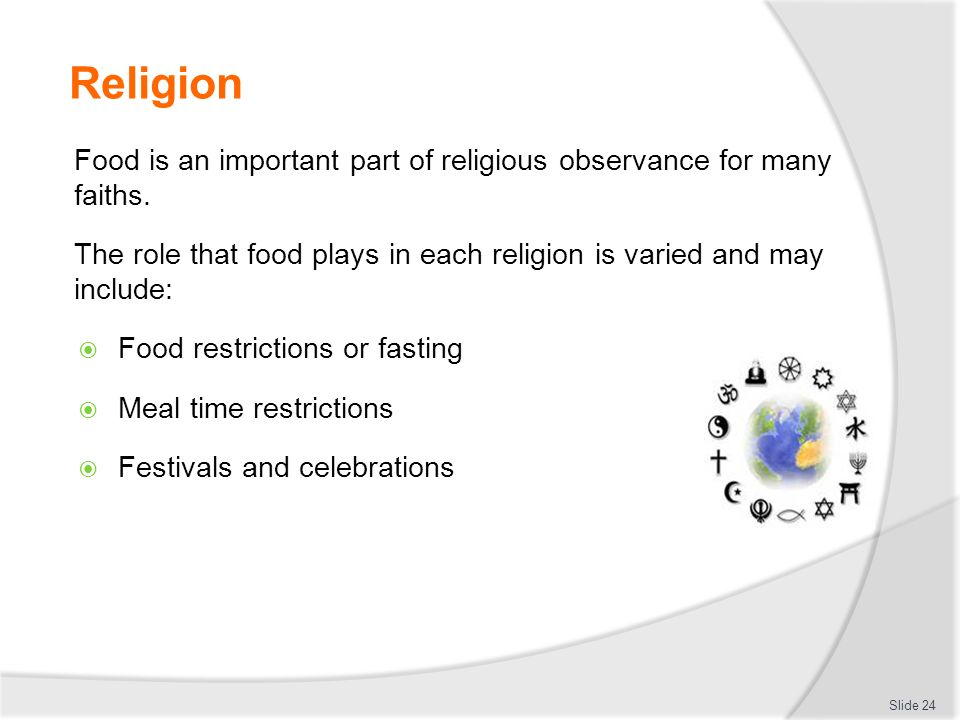 the role of food in religion Unesco – eolss sample chapters the role of food, agriculture, forestry and fisheries in human nutrition – vol iv - regional and cultural differences in nutrition - sh kim, sy oh and oj park ©encyclopedia of life support systems (eolss) needs or dietary guidelines do not appear to be sufficient.
