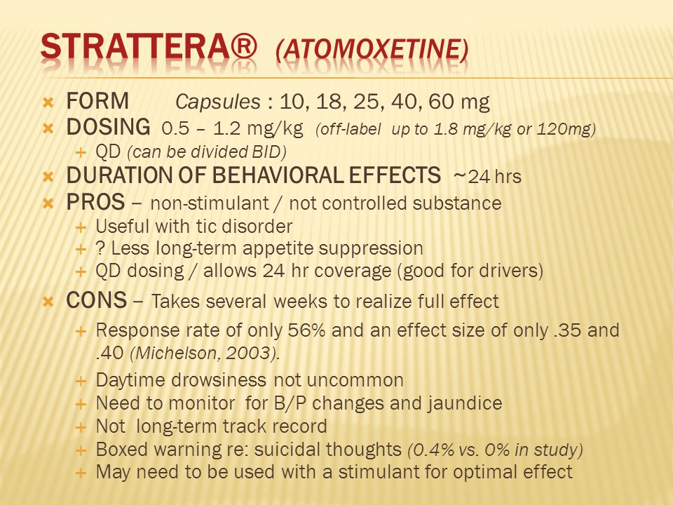 Strattera Dosage Per Day
