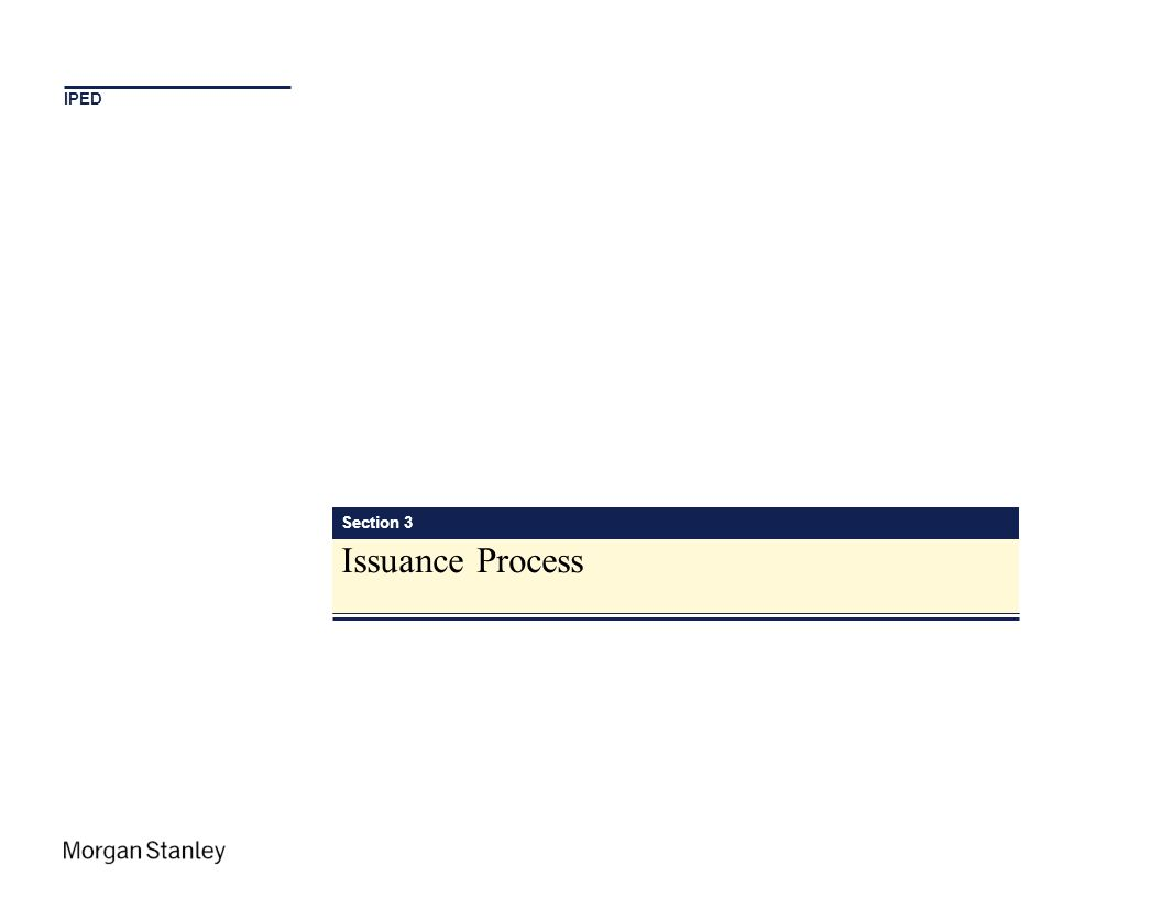 IPED Section 3 Issuance Process
