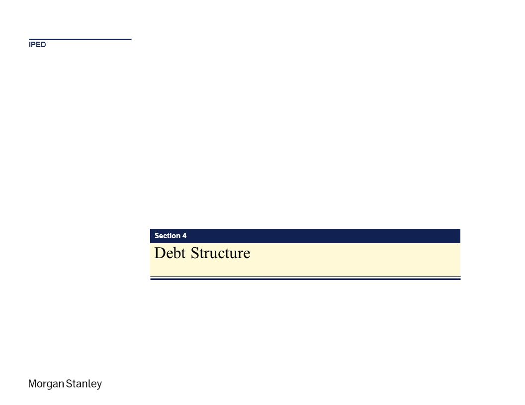 IPED Section 4 Debt Structure