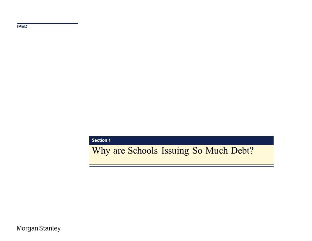 Why are Schools Issuing So Much Debt