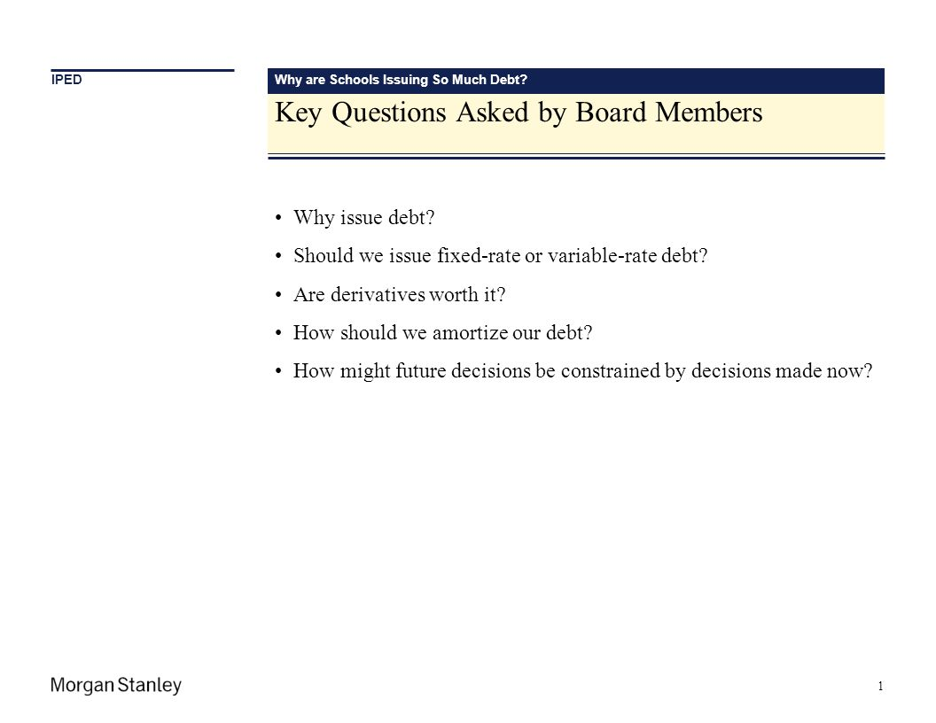 Key Questions Asked by Board Members