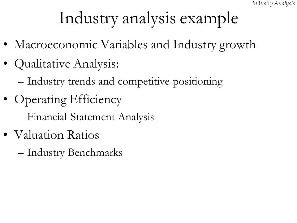 Elegant Industry Analysis Example Within Industry Analysis Example