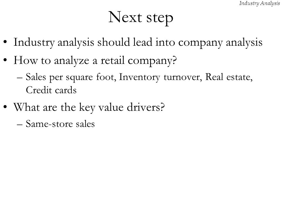 Industry Analysis. - Ppt Download
