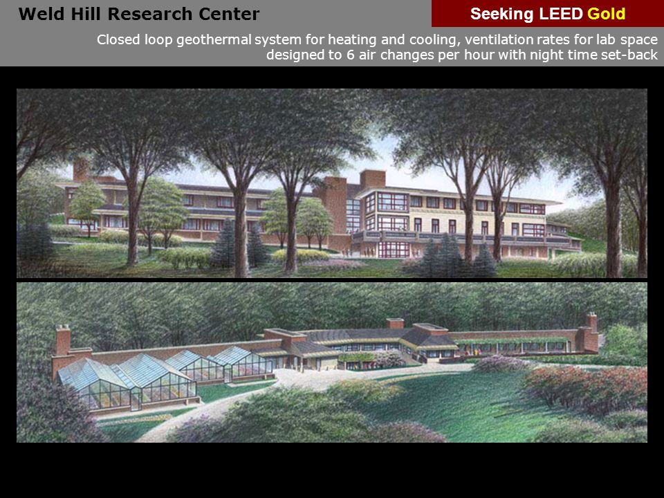 Weld Hill Research Center Seeking LEED Gold