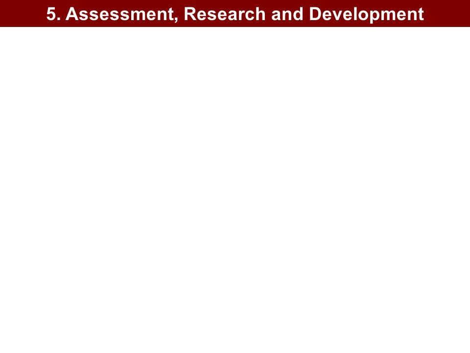 5. Assessment, Research and Development