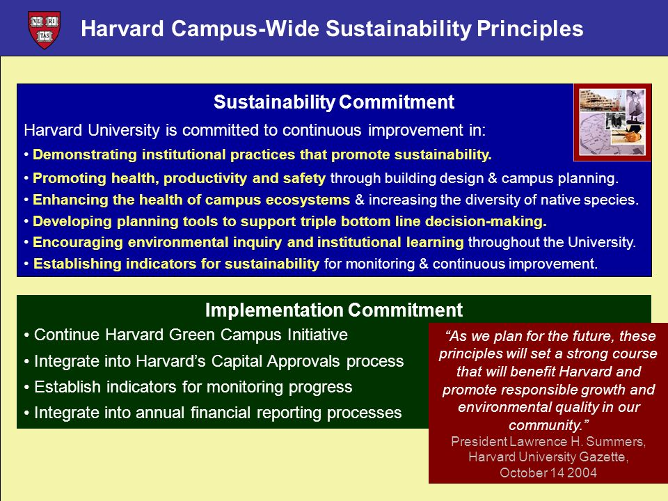 Sustainability Commitment Implementation Commitment