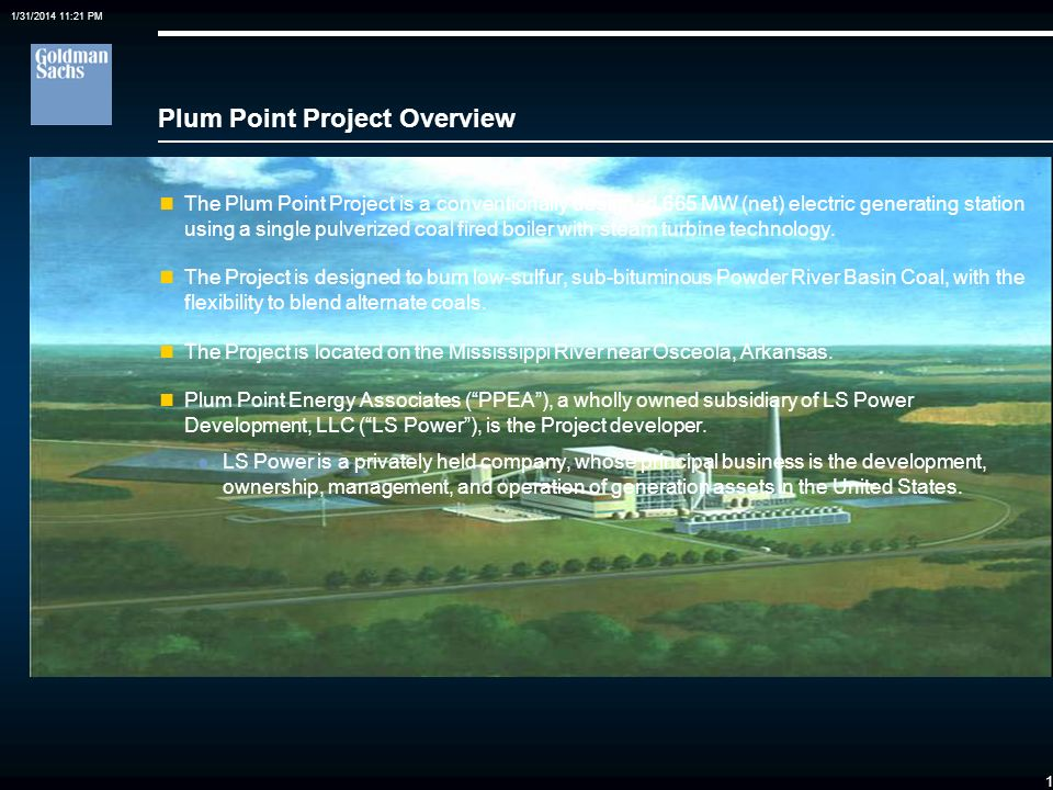 Plum Point Project Overview