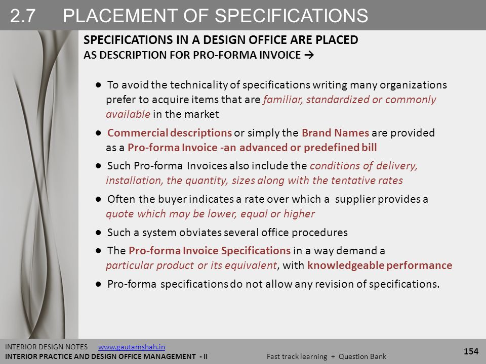 25 SPECIFICATIONS STRUCTURE OF Design Specifications