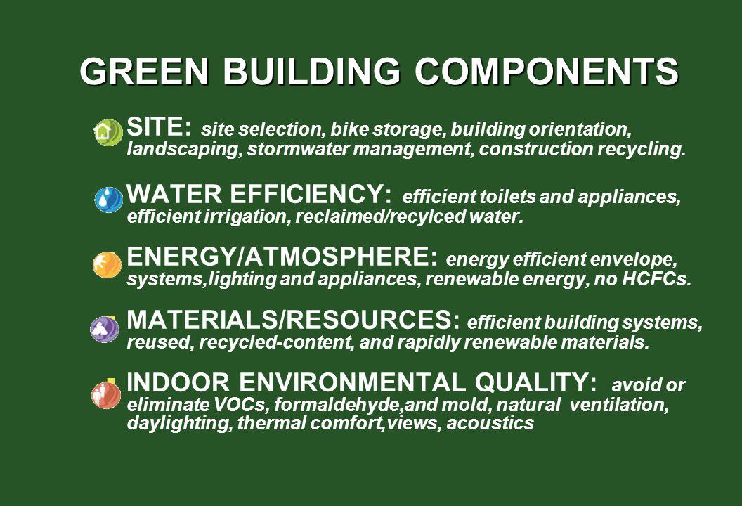 GREEN BUILDING COMPONENTS