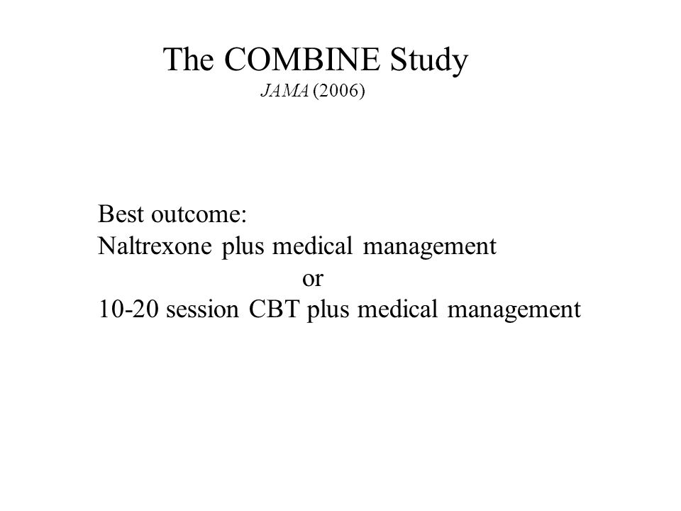 Naltrexone or Specialized Alcohol Counseling an Effective ...