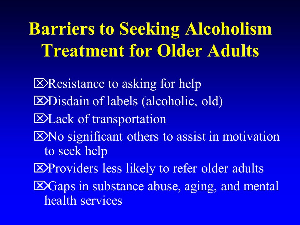 alcoholism treatment options