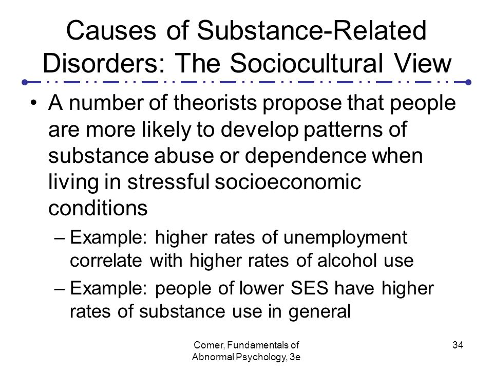Abnormal Psychology - Substance Abuse