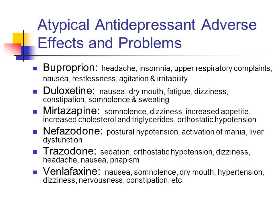 Trazodone Withdrawal Nausea