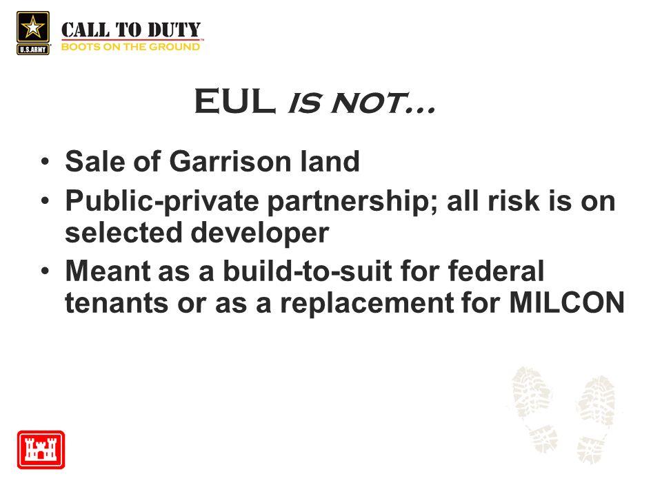 EUL is not… Sale of Garrison land