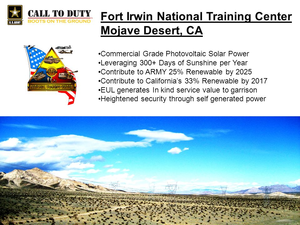Fort Irwin National Training Center Mojave Desert, CA