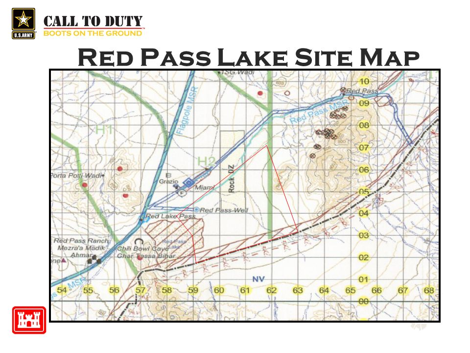 Red Pass Lake Site Map