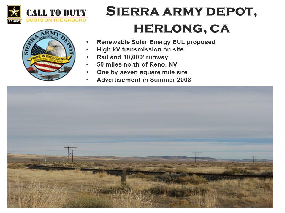 Sierra army depot, herlong, ca