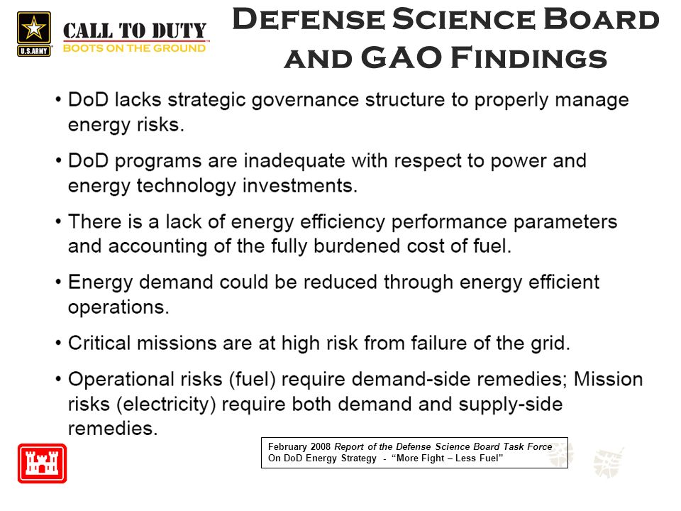 Defense Science Board and GAO Findings