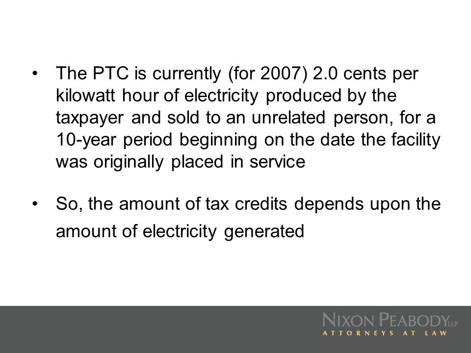 The PTC is currently (for 2007) 2