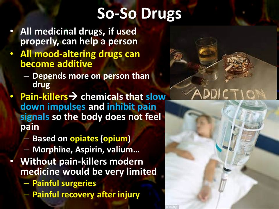 drugs and the effect on the What is a drug and further information about the different types of drugs from psychoacive drugs to hallucinogens and the various kinds of drugs.