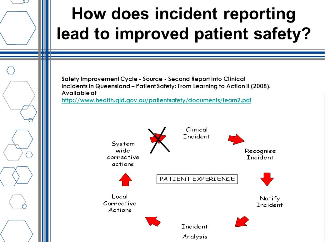 How does incident reporting lead to improved patient safety