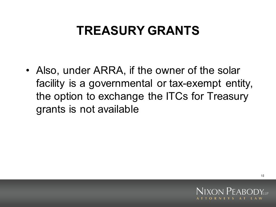 TREASURY GRANTS