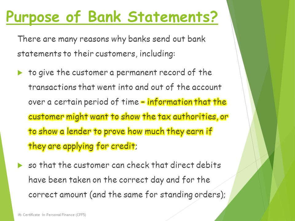 Topic  Understand The Purpose Of Bank Statements  Ppt Video