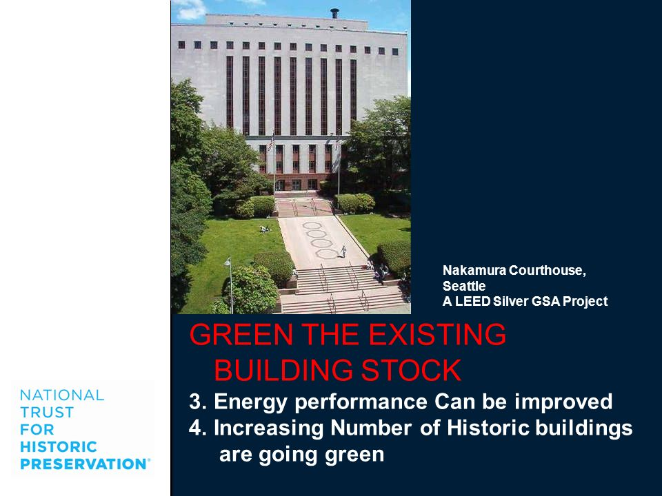 GREEN THE EXISTING BUILDING STOCK