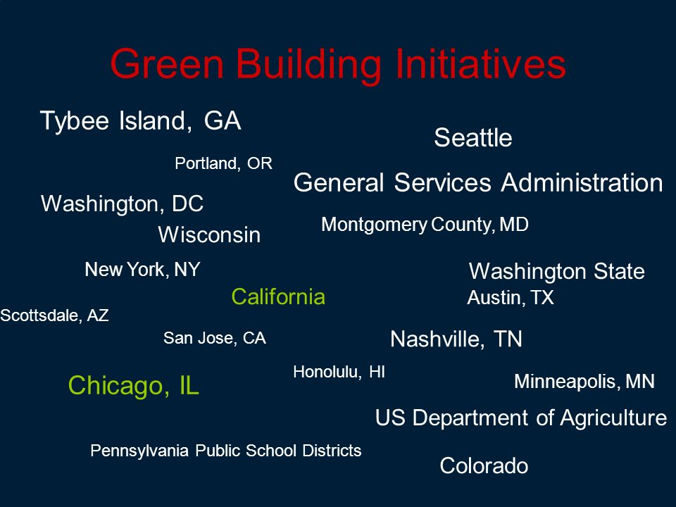 Green Building Initiatives