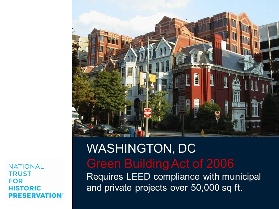 WASHINGTON, DC Green Building Act of 2006