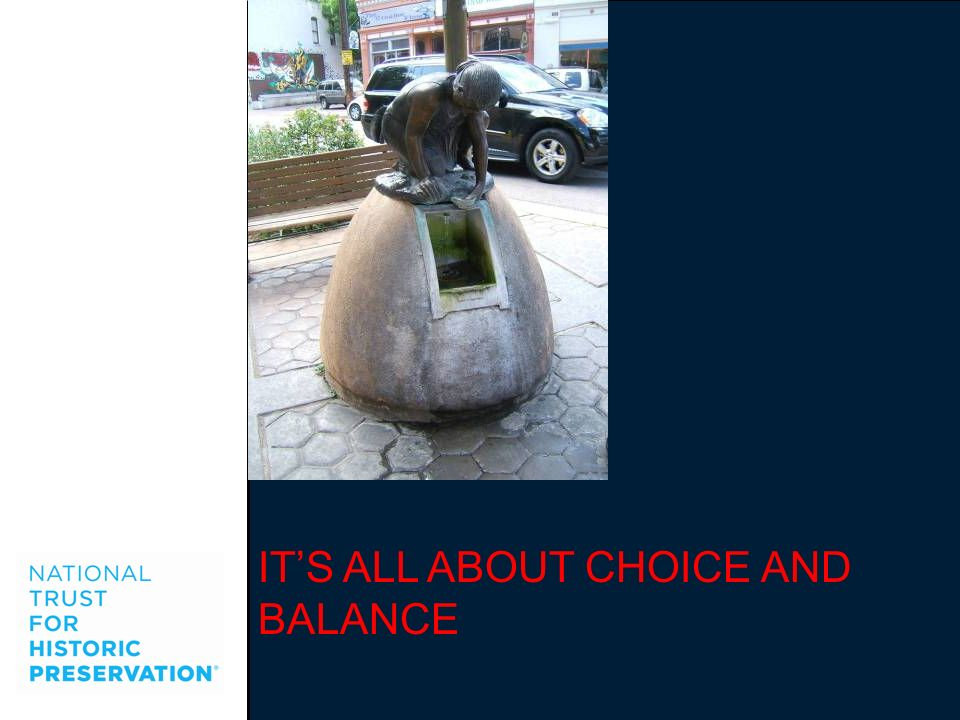 IT'S ALL ABOUT CHOICE AND BALANCE