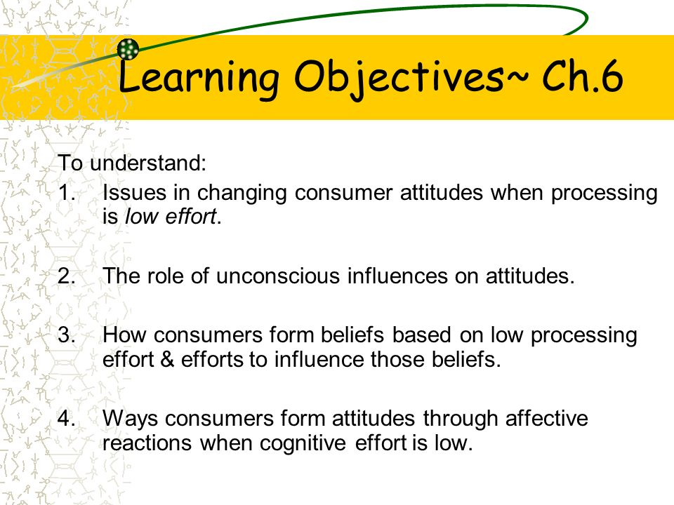 Attitudes Based On Low Consumer Effort  Ppt Video Online Download