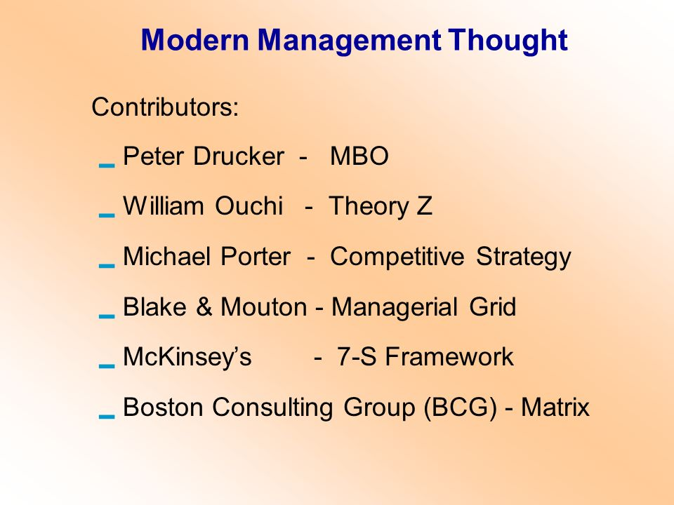 Modern Management Thought