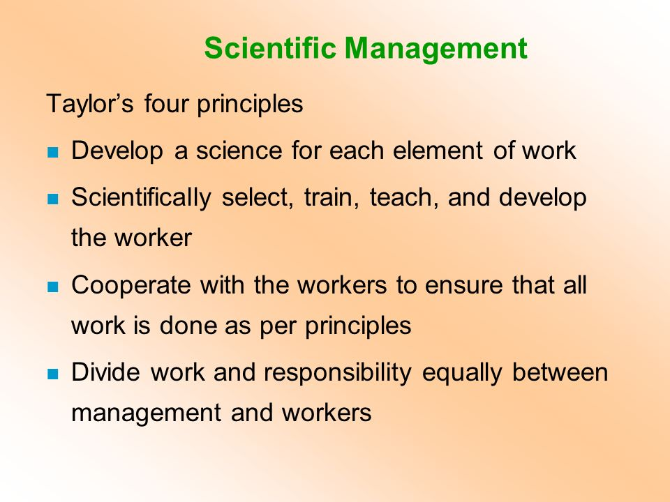 the link between scientific management and Difference between scientific management and human relations essays and research papers the link between scientific management and the human relations approach there are inherent tensions in organisations - and they are resolved by the process of management.
