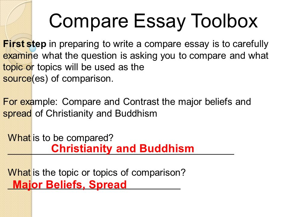 world religions and the classical age ppt video online  compare essay toolbox christianity and buddhism major beliefs spread