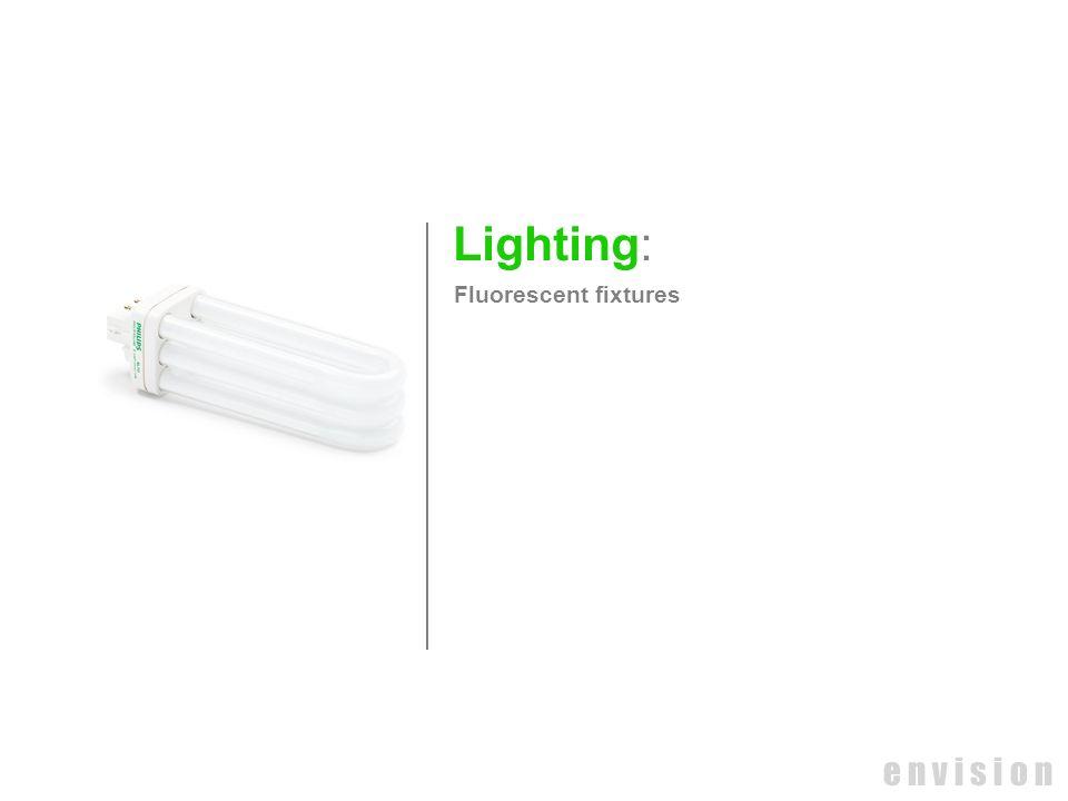 Lighting: Fluorescent fixtures e n v i s i o n