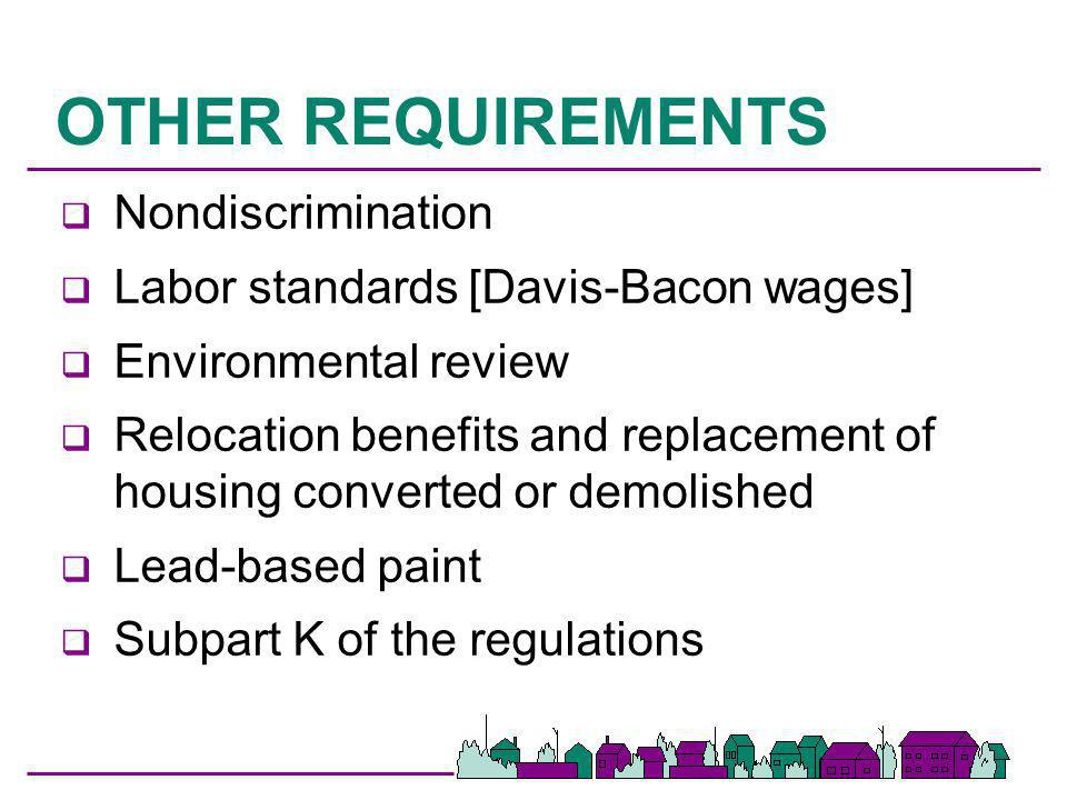 OTHER REQUIREMENTS Nondiscrimination