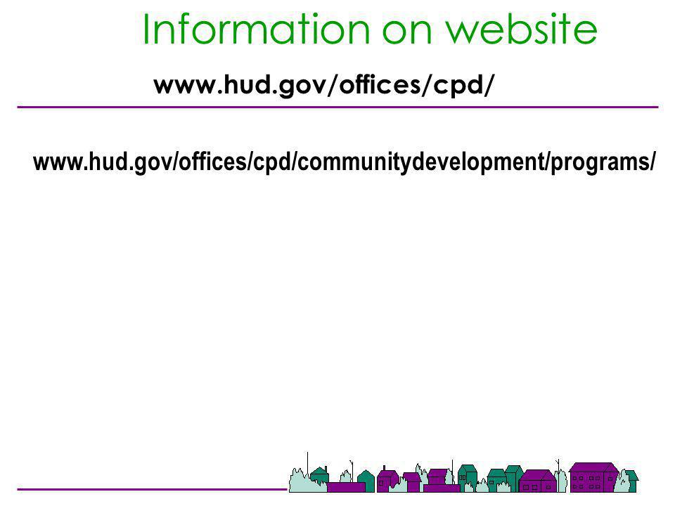 Information on website www.hud.gov/offices/cpd/