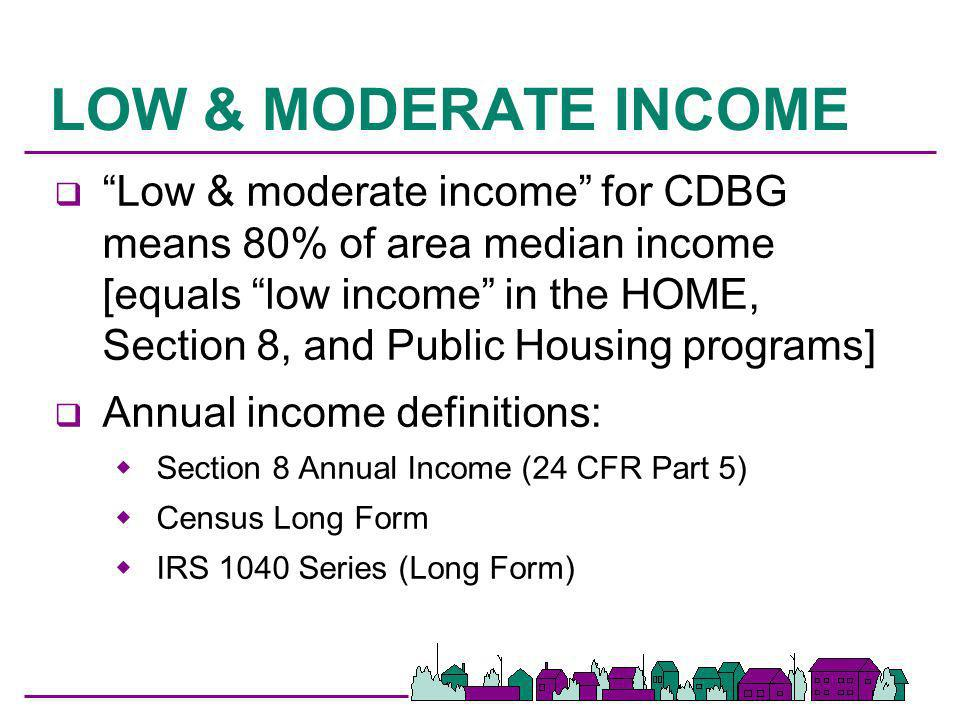 LOW & MODERATE INCOME