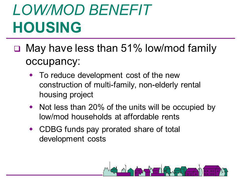 LOW/MOD BENEFIT HOUSING