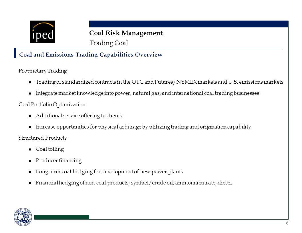 Coal Risk Management Trading Coal