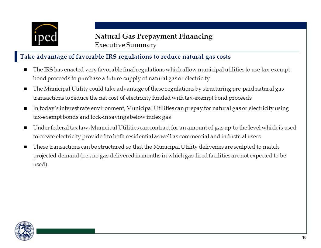 Natural Gas Prepayment Financing