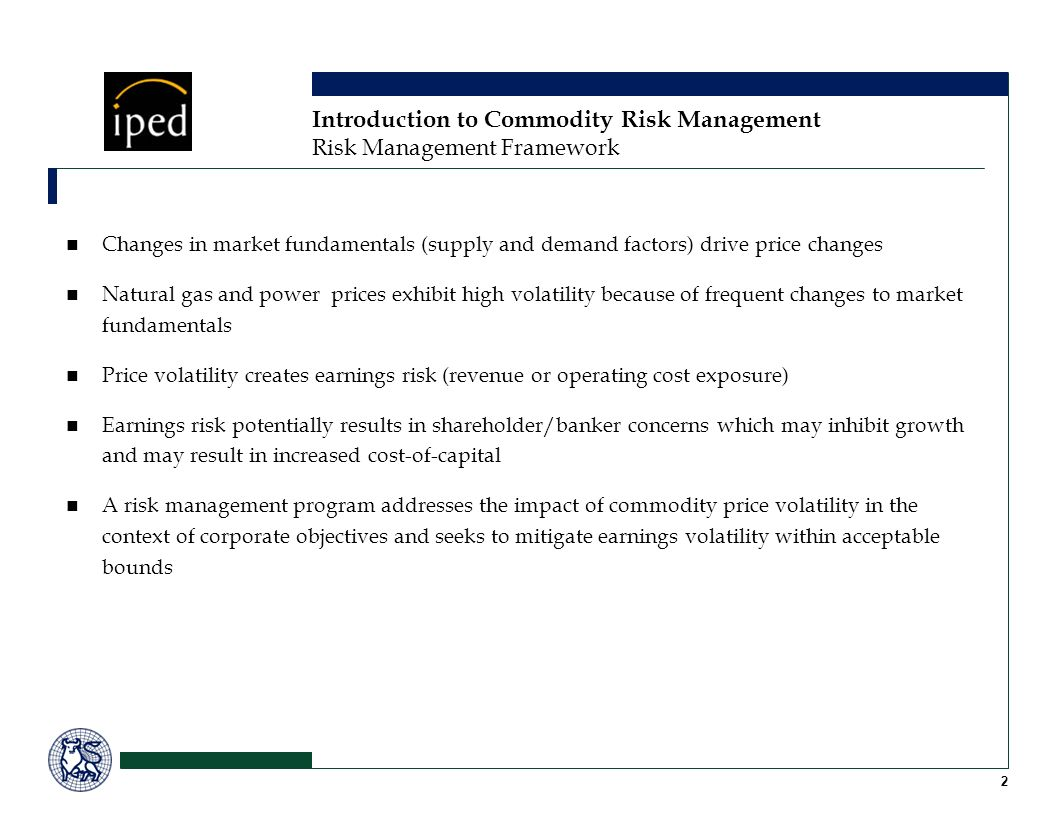 Introduction to Commodity Risk Management