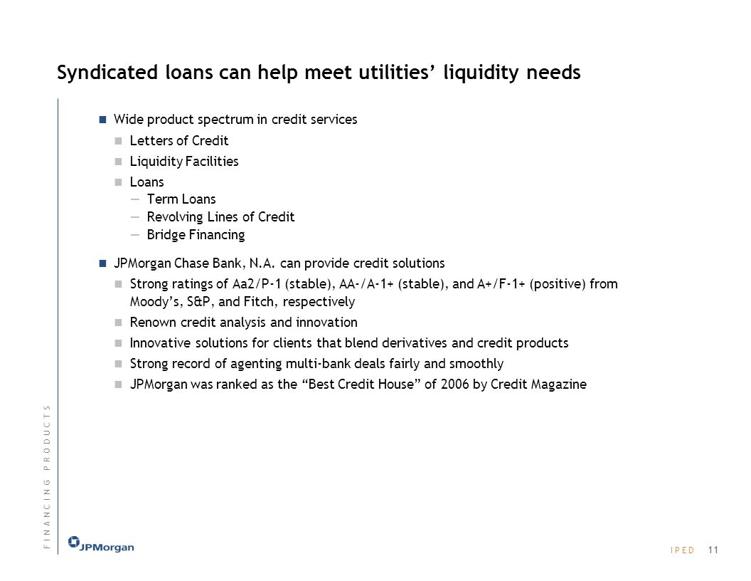 Syndicated loans can help meet utilities' liquidity needs