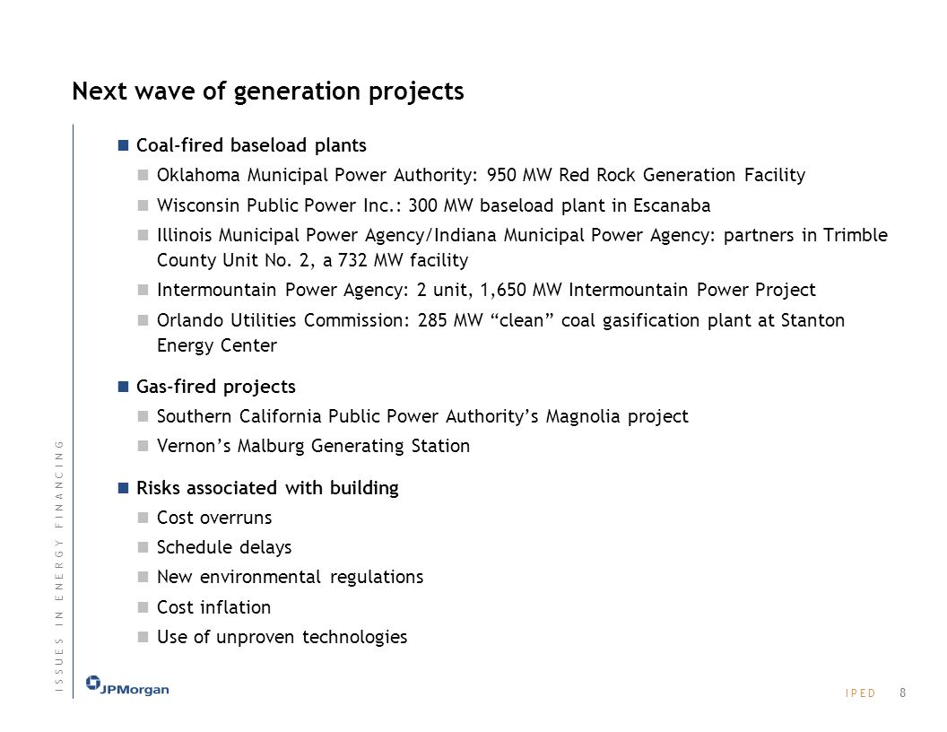 Next wave of generation projects