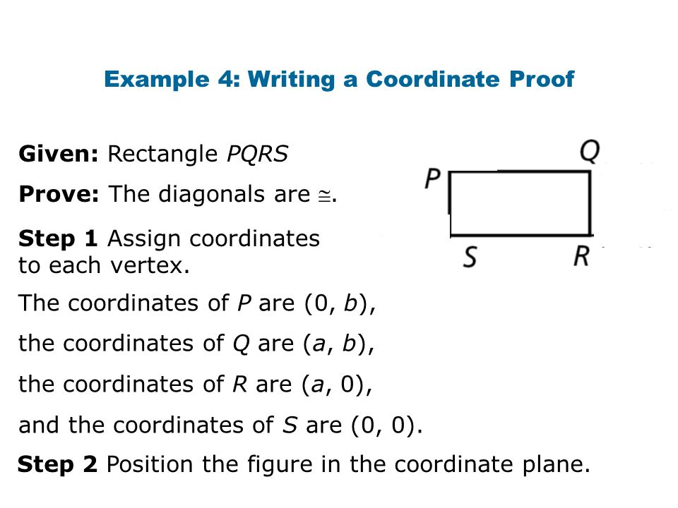 Example 4: Writing a Coordinate Proof
